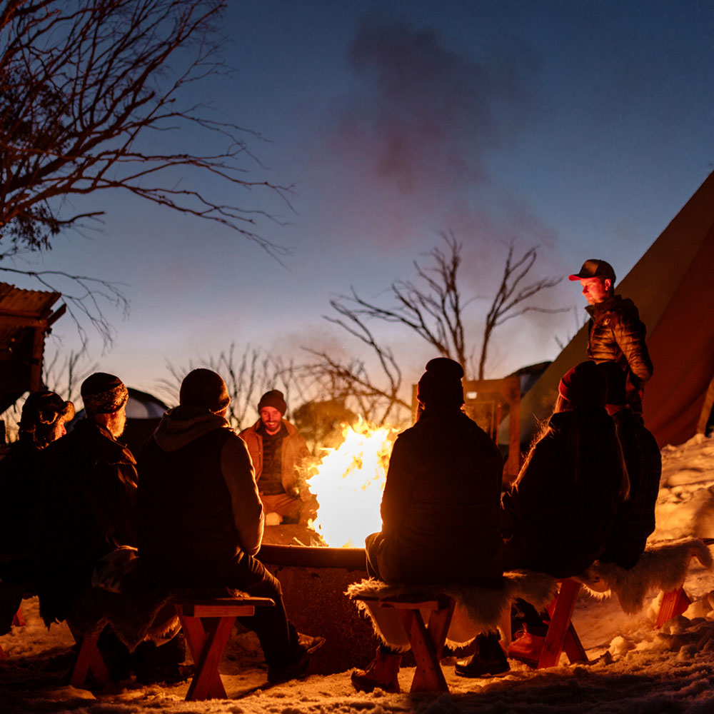 hotham nights by the fire